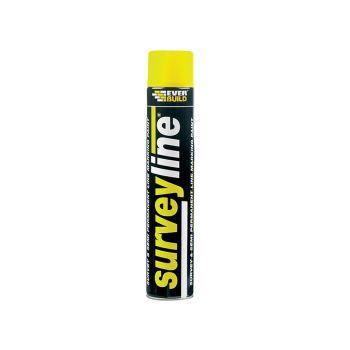 Everbuild Surveyline Marker Spray Yellow 700ml - EVBSURVEYYE