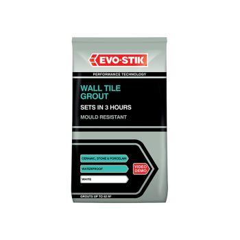 Evo-Stik Wall Tile Grout Mould Resistant White 500g - EVO478701