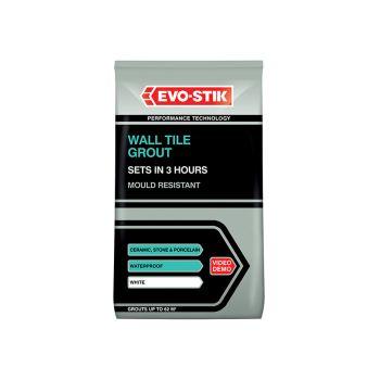 Evo-Stik Wall Tile Grout Mould Resistant White 1.5kg - EVO478718