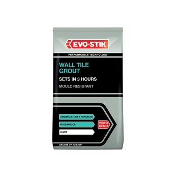 Evo-Stik Wall Tile Grout Mould Resistant White 3kg - EVO478725
