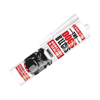 Evo-Stik The Dog's B*ll*cks Multipurpose Adhesive & Sealant, White 290ml - EVOTDBWH