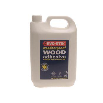 Evo-Stik 718418 Weatherproof Wood Adhesive 5 Litre - EVOWP5L