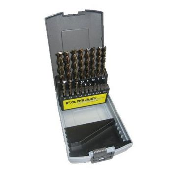 Famag 19 piece set HSS-Ground Brad Point Drill Bits in Plastic Case. - FAMF1594819