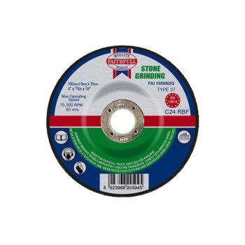 Faithfull Depressed Centre Stone Grinding Disc 100 x 6 x 16mm - FAI1006SDG