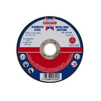 Faithfull Metal Cut Off Disc 125 x 1.2 x 22mm - FAI12512M