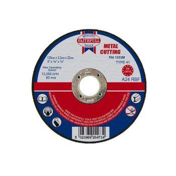 Faithfull Metal Cut Off Disc 125 x 3.2 x 22mm - FAI1253M