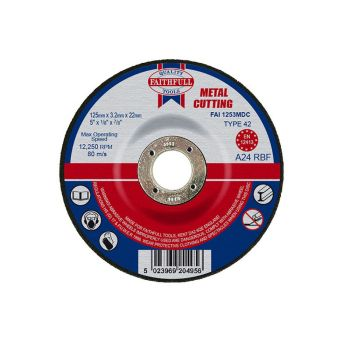 Faithfull Depressed Centre Metal Cut Off Disc 125 x 3.2 x 22mm - FAI1253MDC