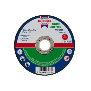 Faithfull Stone Cut Off Disc 125 x 3.2 x 22mm - FAI1253S