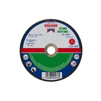 Faithfull Stone Cut Off Disc 180 x 3.2 x 22mm - FAI1803S