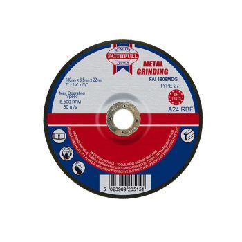 Faithfull Depressed Centre Metal Grinding Disc 180 x 6.5 x 22mm - FAI1806MDG