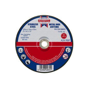 Faithfull Depressed Centre Metal Cut Off Disc 230 x 1.8 x 22mm - FAI23018MDC