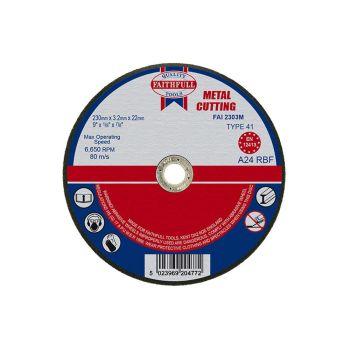 Faithfull Metal Cut Off Disc 230 x 3.2 x 22mm - FAI2303M