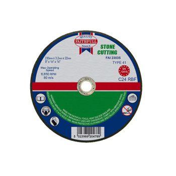 Faithfull Stone Cut Off Disc 230 x 3.2 x 22mm - FAI2303S