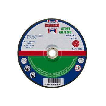 Faithfull Depressed Centre Stone Cut Off Disc 230 x 3.2 x 22mm - FAI2303SDC