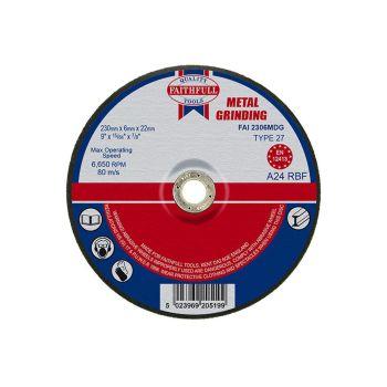 Faithfull Depressed Centre Metal Grinding Disc 230 x 6.5 x 22mm - FAI2306MDG