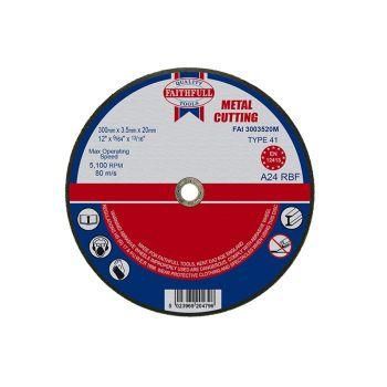 Faithfull Metal Cut Off Disc 300 x 3.5 x 20mm - FAI3003520M