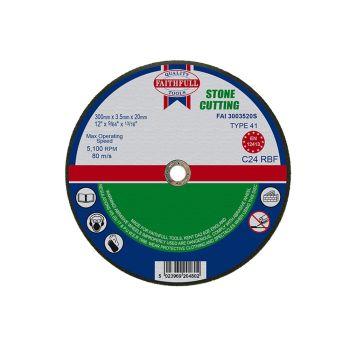 Faithfull Stone Cut Off Disc 300 x 3.5 x 20mm - FAI3003520S
