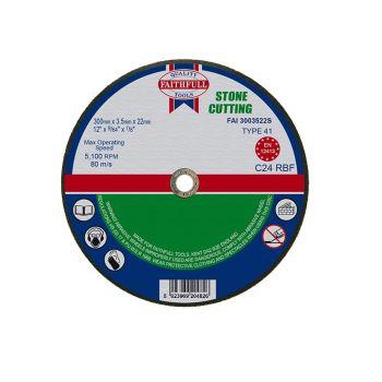 Faithfull Stone Cut Off Disc 300 x 3.5 x 22mm - FAI3003522S