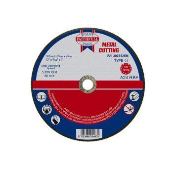 Faithfull Metal Cut Off Disc 300 x 3.5 x 25mm - FAI3003525M