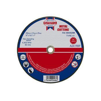 Faithfull Metal Cut Off Disc 355 x 3.5 x 25mm - FAI3503525M