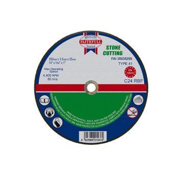 Faithfull Stone Cut Off Disc 355 x 3.5 x 25mm - FAI3503525S