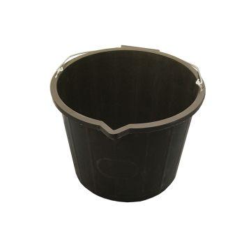 Faithfull 3 Gallon 14 Litre Bucket - Black - FAI3GBUCKET