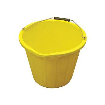 Faithfull 3 Gallon 14 litre Bucket - Yellow - FAI3GBUCKYEL