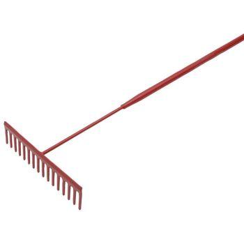 Faithfull Asphalt Rake 16 Flat Teeth - Tubular Steel Shaft - FAIASP