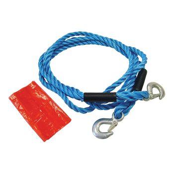 Faithfull Tow Rope 4m Metal Hooks 2 Tonne - FAIAUTR2TON