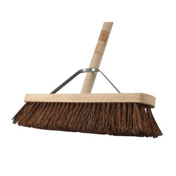 Faithfull Broom Stiff Bassine 45cm (18in) + Handle & Stay - FAIBRBAS18H