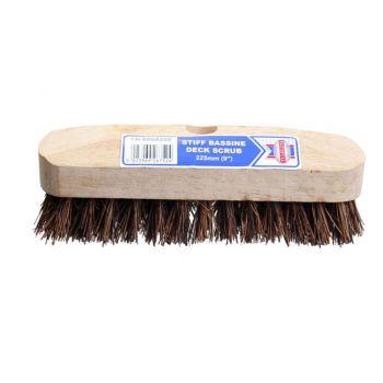 Faithfull Deck Scrub Stiff Broom Head 225mm (9in) - FAIBRBASS9