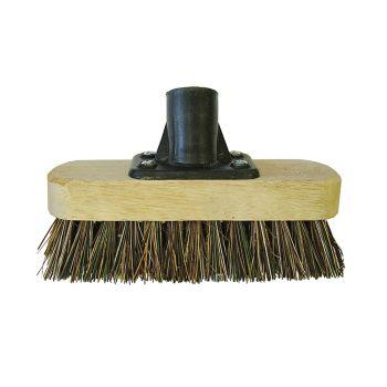 Faithfull Deck Scrub Broom Head 175mm (7in) Threaded Socket - FAIBRDECKSCR