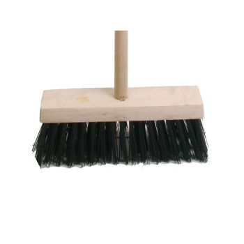 Faithfull Broom PVC 325mm (13 in) Head complete with Handle - FAIBRPVC13H