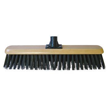 Faithfull Platform Broom Head Black PVC 45cm (18in) Threaded Socket - FAIBRPVC18R