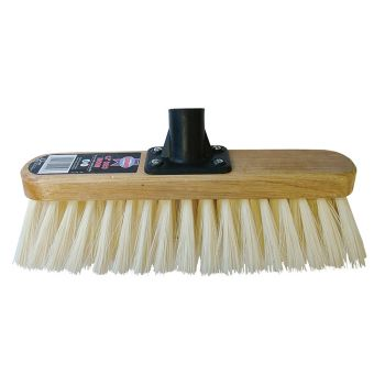Faithfull Broom Head Soft Cream PVC Bristle 300mm (12in) Threaded Socket - FAIBRSOFT12R