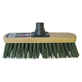 Faithfull Broom Head Stiff Green 300mm (12in) Threaded Socket - FAIBRSTIF12R