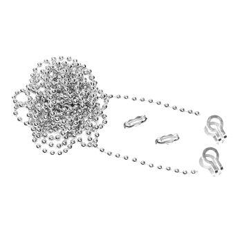 Faithfull Brass Ball Chain Kit 1m Nickel Plated - FAICHBALLNP1