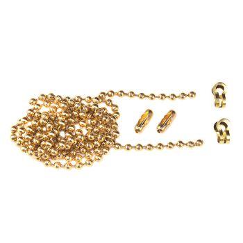 Faithfull Brass Ball Chain Kit 1m Polished Brass - FAICHBALLPB1