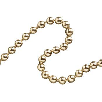 Faithfull Ball Chain Polished Brass 3.2mm x 10m - FAICHBPB3210