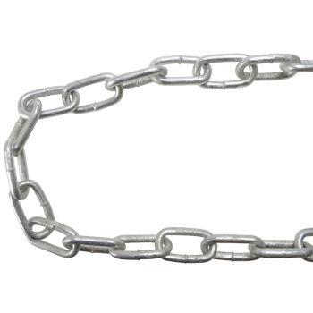 Faithfull Galvanised Chain Link 8 x 10m Reel - Max Load 450kg - FAICHGL810