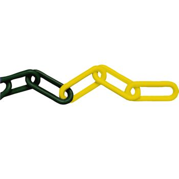 Faithfull Plastic Chain 8mm x 12.5m Yellow / Black - FAICHPYB812C