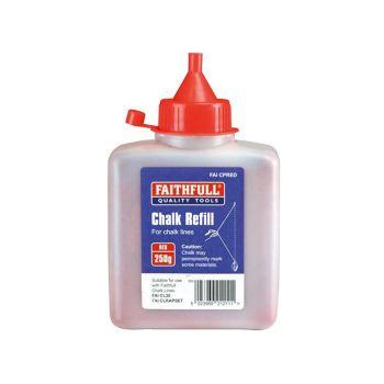 Faithfull Chalk Powder 250g - Red - FAICPRED