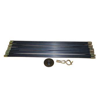 Faithfull Universal Drain Clean Set (10 x Rods, Plunger & Worm) - FAIDRSET12