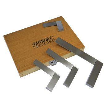 Faithfull Engineers Squares Set, 4 Piece (50, 75, 100, 150mm) - FAIESSET4