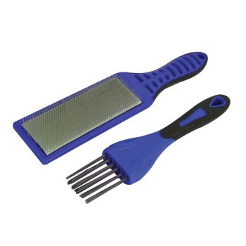 Faithfull 2 Piece File Card Brush Kit - FAIFCBKIT