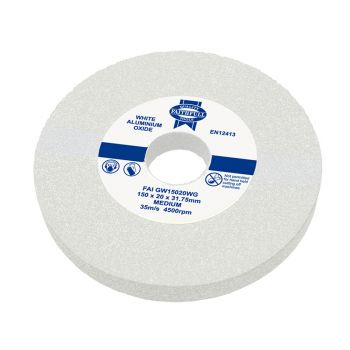 Faithfull General Purpose Grinding Wheel 200 x 25mm White Medium - FAIGW20025WG