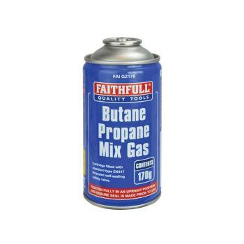 Faithfull Butane Propane Gas Cartridge 170g - FAIGZ170
