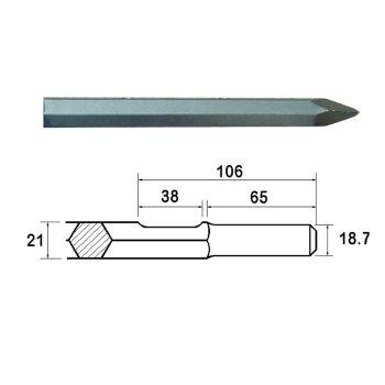 Faithfull Kango Shank Point 380mm (914112) - FAIKAGP380