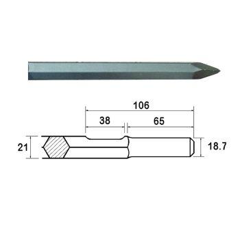 Faithfull Kango Shank Point 450mm (914113) - FAIKAGP450