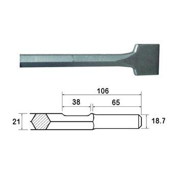 Faithfull Kango Shank Straight Scaling Chisel 75 x 300mm - FAIKAGSC75